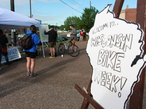 Eau Claire launched its kickoff event for Bike Week on Tuesday morning outside of The Local Store for bikers and biking organizations to meet and talk about events and Wisconsin biking.