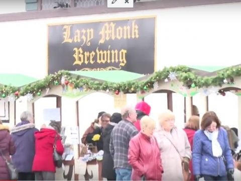 Lazy Monk Brewery hosts its first annual Christkindlmarkt