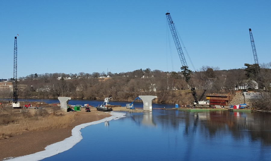 Bridge project stays on timeline thanks to mild winter