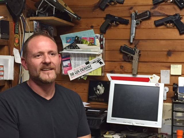 Gun shop owner follows familiar path to firearms