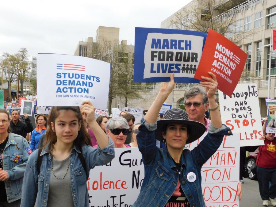 March for Our Lives supporters converged on the Capitol in Little Rock, Arkansas, on Saturday, March 24, to demand action to stop school shootings. © 2018 Kailin Schumacher