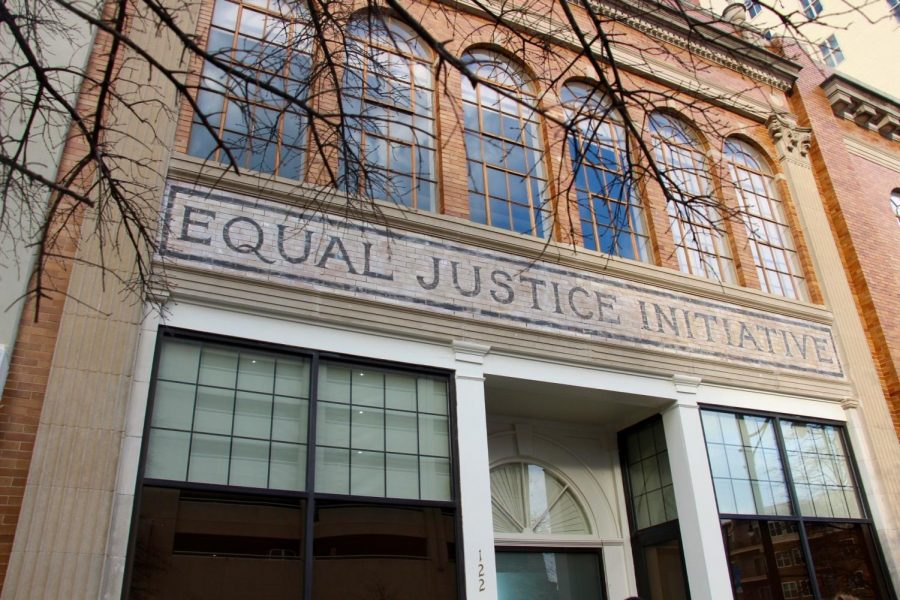 Equal Justice Initiative is a non-profit organization that fights for racial and economic justice, particularly working to end mass incarceration and excessive punishment of children and others in the United States. Students from the University of Wisconsin-Eau Claire visited the organization's Montgomery, Alabama, office on Monday, March 19. © 2018 Samantha West