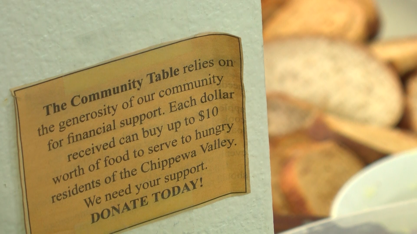 The Community Table allows hungry individuals to have a hot and nutritious meal.  © Annemarie Payson 2018