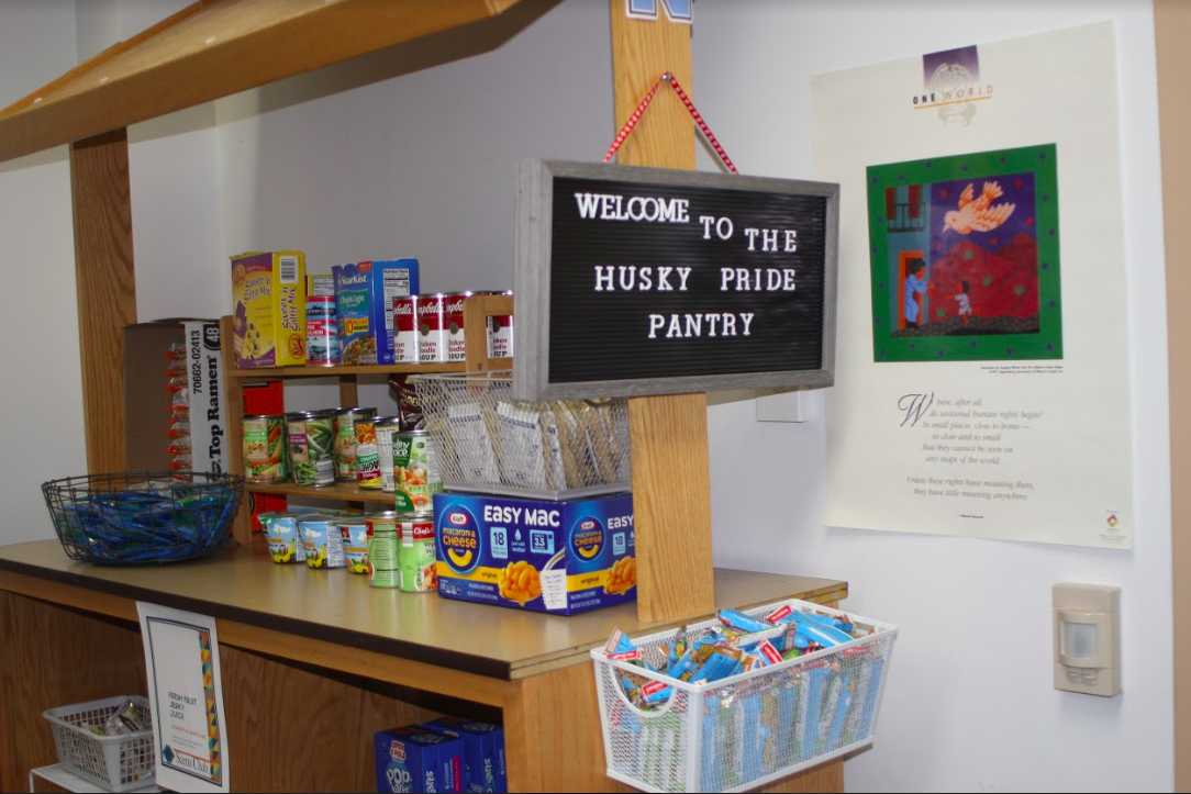 The food pantry at North High School has become a source of food for students.