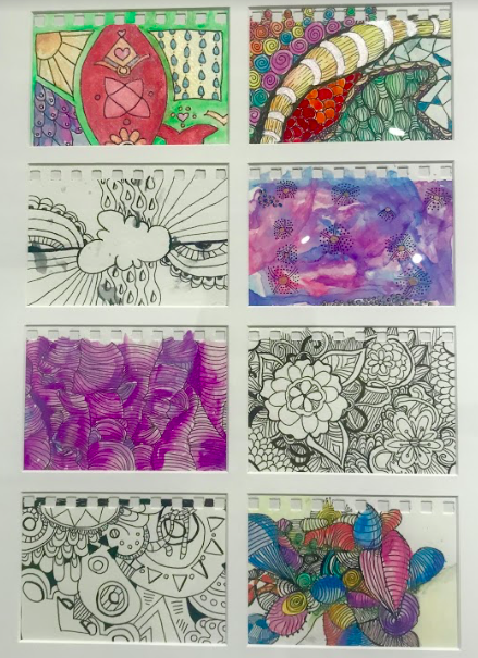 "Amy Hahn created these ""zendoodles"" with her clients on their road to healing."