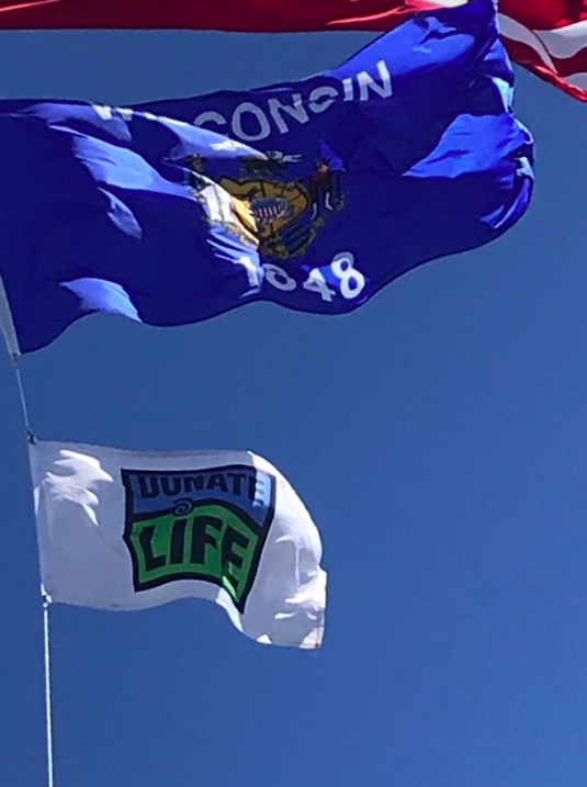 Flags have been raised across the country to raise awareness for organ donation this April.