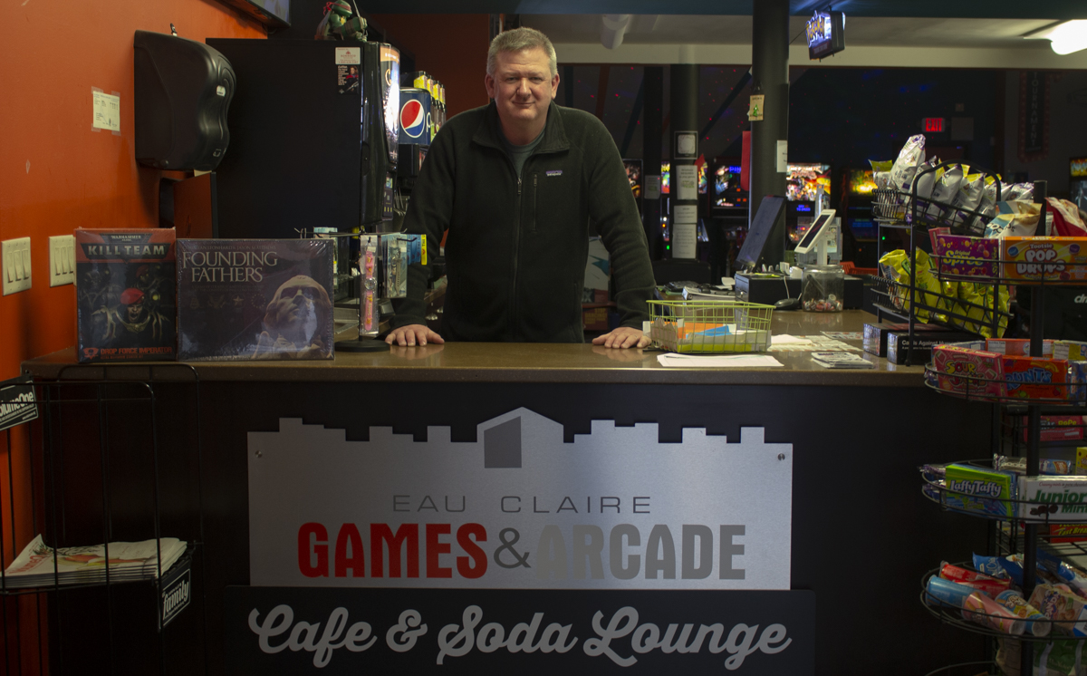 For Eau Claire Games and Arcade founder and co-owner Tim Sexton, fun is something he says the business does not apologize for. Sexton says his favorite game is pinball and that he still challenges himself to get the new high score. ©2019 Ta'Leah Van Sistine