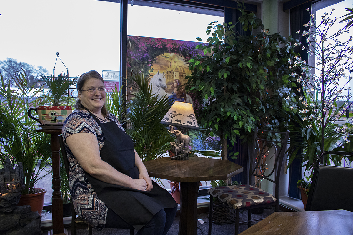 After opening Jewelstone Cafe and Waffle Bar in September 2018, Brenda Buxman hopes to soon use its proceeds to pay for a Chippewa Valley family's housing and schooling through her nonprofit Warm Hearts Warm Homes. © 2019 Lea Kopke