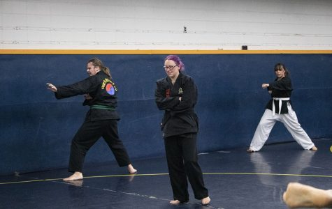 Beth Teutschmann is the head instructor for the hwa rang do/tae soo do club at UW-Eau Claire. © Lauren Spierings 2019