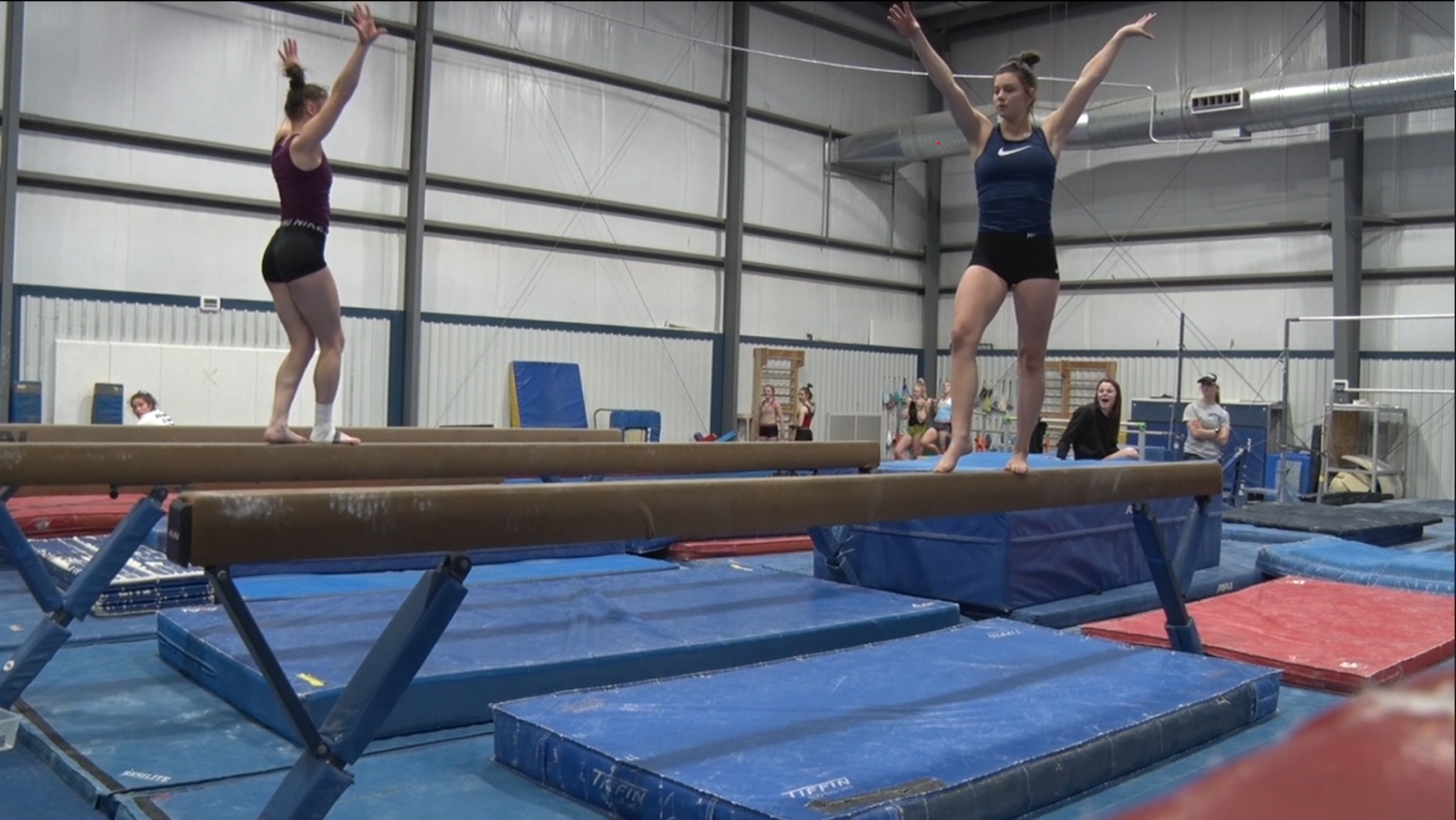 Blugold gymnastics vault into 2020 in a new training facility