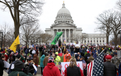 "Thousands of people gathered in Madison on April 24 to protest Gov. Tony Evers's ""Safer at Home"" order. Photo courtesy of Channel 3000."